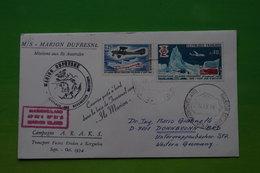 4-511 Rare TAAF 1974 Marion Dufresne Marion Nouvelle Zeland Campagne Russe ARAKS Fusée France Oblitéré Marion Island - Forschungsprogramme