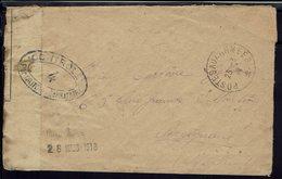 FR - Enveloppe En FM Pour Perpignan - Cachet Trésor & Postes 23-3-1918 - Contrôle De La Censure - B/TB - - Postmark Collection (Covers)