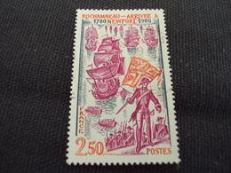 """80-89 Timbre Oblitéré N°2094    """"  Rochambeau """"   0.80 - France"""