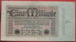 1000000000 Mark 1923 (WPM 114) 5.9.1923 / 1 Milliarde - [ 3] 1918-1933 : Repubblica  Di Weimar