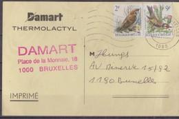 Carte Damart Bruxelles. - Belgique
