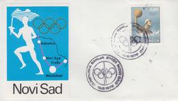 Enveloppe     YOUGOSLAVIE    Parcours  Flamme  Olympique   NOVI SAD   Jeux  Olympiques  MUNICH   1972 - FDC