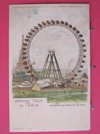 Paris - Exposition Universelle De 1900 - La Grande Roue - Scans Recto-verso - Exhibitions