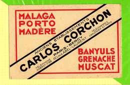 BUVARD & Blotter Paper: Malaga Grenache Muscat Paris Bercy CARLOS CORCHON - Liquor & Beer
