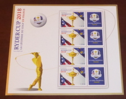 France - 2018 - N°Yv. BF142 - Golf / Ryder Cup - Neuf Luxe ** / MNH / Postfrisch - Blocs & Feuillets