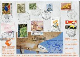 """ENVELOPPE CONCORDE TOUR DU MONDE """" TOUR 5 """" DU 27-11 AU 13-12-1987 - Concorde"""