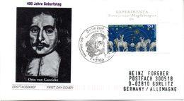 """BRD Schmuck-FDC """"400. Geburtstag Von Otto Von Guericke"""", Mi.2282 ESSt 10.10.2002 BERLIN ZENTRUM - [7] République Fédérale"""