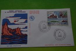 4-508 TAAF FDC 1988 Ile Aux Poingouins Manchot Penguin Crozet Géologic Relief Géologique Geographie - Forschungsprogramme