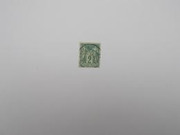 TIMBRE OBLITERE 2 C VERT - 1876-1898 Sage (Type II)