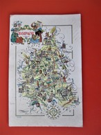 Illustrateur Jacques LIOZU - Région CHAMPAGNE  - édition ODÉ - Jolie Certe Illustrée De La MARNE Hte MARNE AUBE ARDENNES - Künstlerkarten