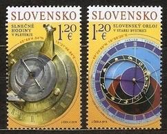 Slovakia 2019 Pofis 680-81 ** Joint Issue With Slovenia, Old Clocks - Slovaquie