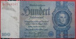 100 Reichsmark 1935 (WPM 183) 24.6.1935 - [ 4] 1933-1945: Derde Rijk