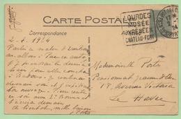 "DAGUIN - ENTREPOT De LOURDES  ""LOURDES MUSEE PYRENEEN CHATEAU-FORT"" - 1924 - - 1921-1960: Modern Period"