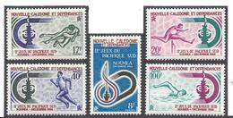 Nouvelle Calédonie - YT N° 332 à 335 - Neuf Avec Charnière - Thématique Sport - 1966 - New Caledonia