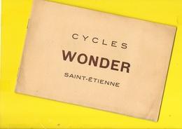 """Catalogue 1951 Cycles """"WONDER"""" 16 Pages + Couverture Format 20 X 23 Cm Env.. - Cyclisme"""