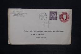 ETATS UNIS - Entier Postal Commerciale + Complément Perforé De Pittsburgh Pour La France En 1929 - L 25957 - 1921-40