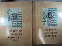 L'escriptura A Les Terres Gironines. Segles IX - XVIII. Any 1993. Edita: Diputació De Girona, Girona 2 Vol. - Historia Y Arte