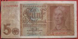 5 Reichsmark 1942 (WPM 186) 1.8.1942 - [ 4] 1933-1945: Derde Rijk