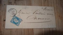 Lettre De ANDELOT De 1858  ….................…T6 - 1849-1876: Période Classique