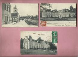 Lot De 3 CPA De MOULIGNON - Intérieur Du Pays - 2 Du Chateau De Moulignon - France