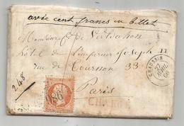 JURA - CHAUSSIN GC 986 S/TP Nqapoleon III N°23 Chargé + Càd T.15-1866 - 1852 Louis-Napoleon