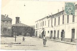 CPA Algérie Arzew Avenue De La Gare Et Rue Ste Marie - Alger