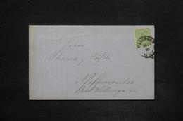 ALLEMAGNE - Lettre De Villingen Pour Pfaffenweiler En 1880 , Affranchissement Plaisant - L 25962 - Allemagne
