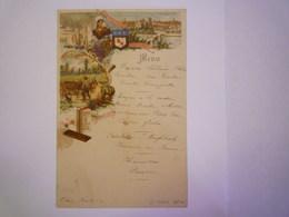 GP 2019 - 674  Très Joli  MENU  Illustré  CHOCOLAT SUCHARD   1900   XXX - Menu