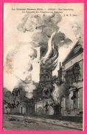 La Grande Guerre 1914 - Arras - Rue Gambetta - La Chapelle Des Ursulines En Flammes - J.M.T. PARIS - 1919 - Arras