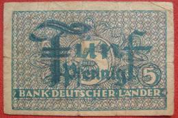 5 Pfennig ND (BRD WPM 11a) Bank Deutscher Länder - [ 7] 1949-… : RFD - Rep. Fed. Duitsland