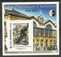 Bloc CNEP N° 76 Salon Paris Automne  2017 - CNEP
