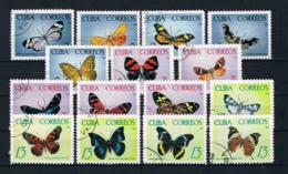 Kuba 1965 Schmetterlinge Mi.Nr. 1058/72 Kpl. Satz Gestempelt - Cuba