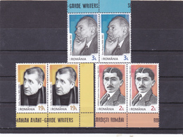 ROMANIA GARDE WRITERS,FULL SETS IN PAIR, 2018,MNH, ROMANIA. - 1948-.... Républiques