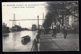 FR1- CARTE ANCIENNE FRANCE- NANTES (44)- INONDATIONS DE 1904- QUAI DE LA FOSSE AVEC BELLE ANIMATION- LE PONT - Inondations