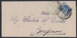 YN469   Regno 1920 Piego Da Piacenza Per Borgonovo 25c Michetti - 1900-44 Victor Emmanuel III