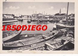 CAORLE - PESCHERIA F/GRANDE VIAGGIATA  1949 ANIMATA - Venezia (Venice)