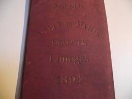 AGENDA, 1894, Vielle De Paris, Nouveautés, LIMOGES - Calendriers