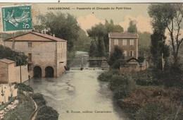 Aude -  CARCASSONNE - Passerelle Et Chaussée Du Pont Vieux - Carcassonne