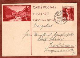 P 145 Mater Fluviorum, Abb Goeschenen, Locarno Nach Saarbruecken 1932 (71303) - Ganzsachen