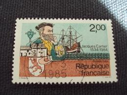 """80-89 Timbre Oblitéré N° 2307   """"  Jacques Cartier """"   0.25 - France"""