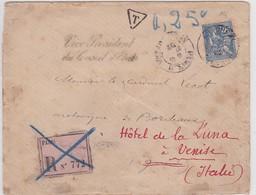 LSC - REC. De PARIS  Avec Taxe De Réexpédition - Marcophilie (Lettres)