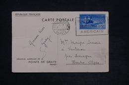 FRANCE - Entier Postal De La Pointe Du Grave , Monument Américain Pour Laragne En 1938 - L 25976 - Entiers Postaux