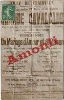 12. AVEYRON - CLAIRVAUX. Affiche De La Grande Cavalcade (1907). Carte Photo. - Andere Gemeenten