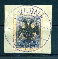 1913 ALBANIA N.7 USATO Frammento 1 PIASTRA - Albania