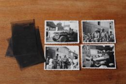 4 Photos Originales Liberation De Villiers Sur Grez  Seine Et Marne  Troupes US - 1939-45