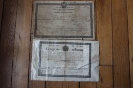 2  Conges De Reforme Et De Liberation1844  Et 1820 - Documentos