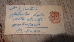 Bande De Journal 3c Orange De 1894 Pour Monaco….................…T21 - Journaux