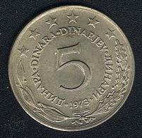 Jugoslawien, 5 Dinara 1973, UNC - Jugoslawien