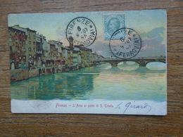 Italie , Firenze , L'arno Al Ponte Di S. Trinita - Firenze (Florence)