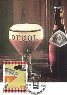 Belgium 2006 Mi. 3631 MC CM Maximum Card, Orval Trappist Beer, Trappiste Wallonne Trappistenbier, Belgian Drink - Cervezas